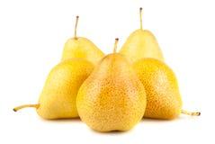 Желтые зрелые груши Стоковые Изображения