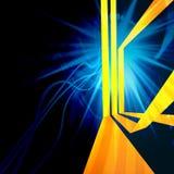 Желтые линии план Стоковое фото RF