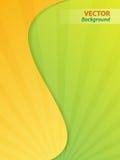 Желтые и зеленые обои Стоковая Фотография RF