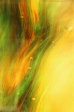 Желтые и зеленые свирли Стоковые Изображения