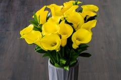Желтые лилии Calla Стоковое Изображение RF