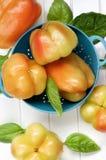 Желтые и померанцовые перцы колокола Стоковое Фото