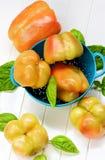Желтые и померанцовые перцы колокола Стоковая Фотография