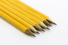 Желтые карандаши Стоковая Фотография