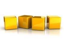Желтые кубики бесплатная иллюстрация
