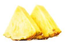 Желтые куски ананаса Стоковые Изображения