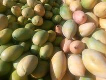Желтые манго для продажи на индийском магазине Стоковые Изображения