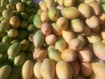 Желтые манго для продажи на индийском магазине Стоковая Фотография RF