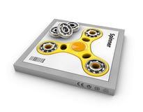Желтые обтекатели втулки руки забавляются в коробке, иллюстрации 3d Стоковое Изображение RF
