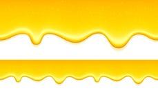 Желтые потеки Падения студня или меда лимона Стоковое Фото