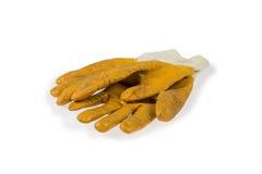 Желтые работая перчатки Стоковые Изображения RF