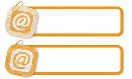 Желтые рамки Стоковая Фотография RF