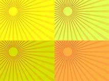 Желтые лучи солнца 10 eps Стоковое Фото