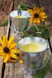 Желтые душистые свечи Стоковое фото RF