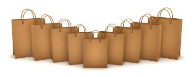 Желтые хозяйственные сумки Стоковые Изображения RF
