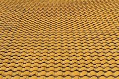 Желтые черепицы Стоковая Фотография