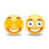 Желтые smileys иллюстрация вектора