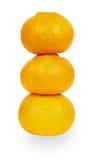 Желтые tangerines Стоковые Изображения RF