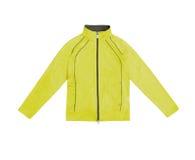 Желтые women's тренируя куртку спорт; изолированный на белом backg Стоковые Фотографии RF