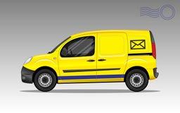 Желтый автомобиль столба Стоковая Фотография RF
