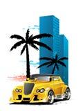 Желтый автомобиль Стоковые Фото