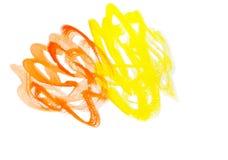 Желтый апельсин Стоковое Изображение RF