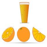 Желтый апельсин Стоковая Фотография