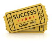 Желтый билет успеха Стоковое фото RF