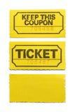 Желтый билет стоковое изображение