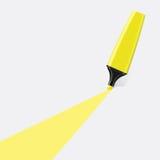 Желтый вектор highlighter бесплатная иллюстрация