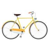 Желтый велосипед Стоковая Фотография