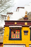 Желтый висок для молить в Лхасе, Тибете Стоковые Изображения