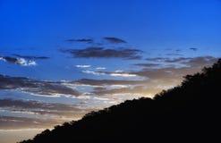 Желтый восход солнца Китая горы стоковые фото
