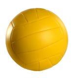 Желтый волейбол Стоковое фото RF