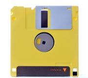 Желтый гибкий магнитный диск Стоковое фото RF