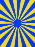Желтый голубой вращая диск Стоковые Изображения RF