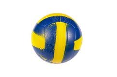 Желтый голубой шарик стоковая фотография