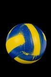 Желтый голубой шарик стоковое изображение