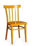 Желтый деревянный стул стоковые фото