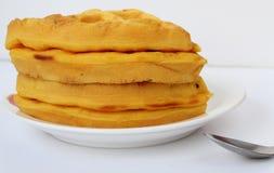 Желтый десерт стоковое фото rf