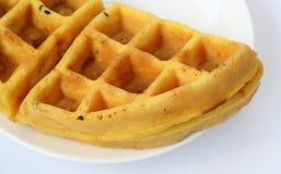 Желтый десерт стоковое изображение