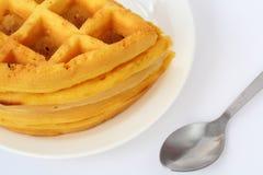 Желтый десерт стоковые изображения