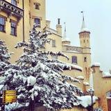 желтый замок Стоковые Изображения