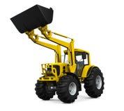 Желтый затяжелитель трактора Стоковое Изображение