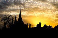 Желтый заход солнца Стоковые Фотографии RF