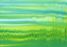 Желтый зеленый цвет обнажает предпосылку акварели Стоковая Фотография RF