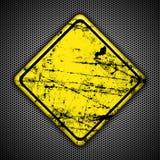 Желтый знак дорожного движения стоковая фотография rf