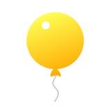 Желтый значок воздушного шара Стоковое Изображение