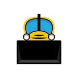 Желтый значок трактора игрушки Стоковые Изображения RF
