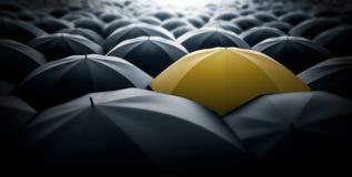 Желтый зонтик иллюстрация штока